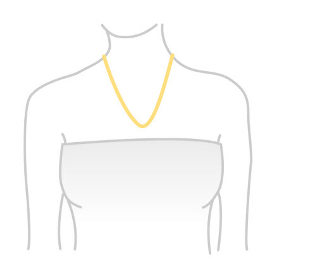 Emerald Cut Citrine Necklace (Yellow Gold)