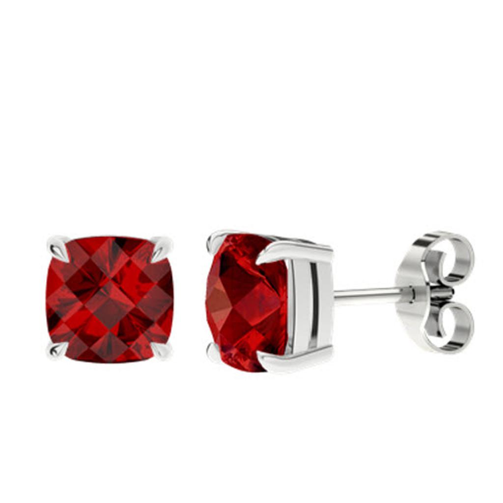 stylerocks-ruby-cushion-checkerboard-silver-stud-earrings