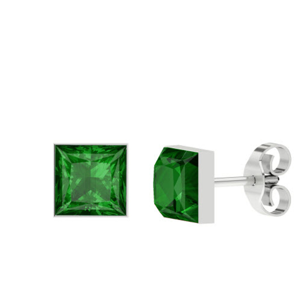 stylerocks-princess-cut-emerald-silver-stud-earrings