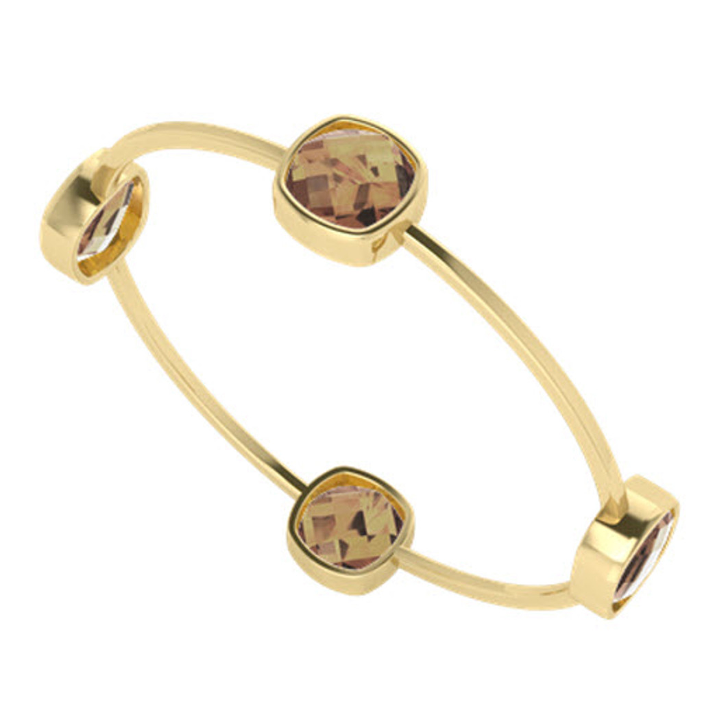 stylerocks-square-cushion-checkerboard-12mm-four-stone-smoky-quartz-yellow-gold-bangle