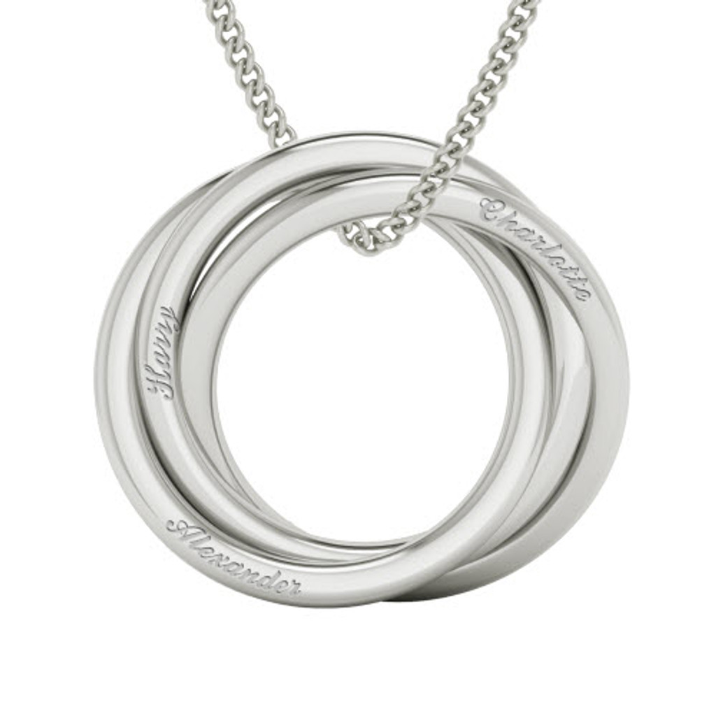 *Russian Rings Necklace  - the 'Charlotte' - Sterling Silver. As worn by Cate Blanchett