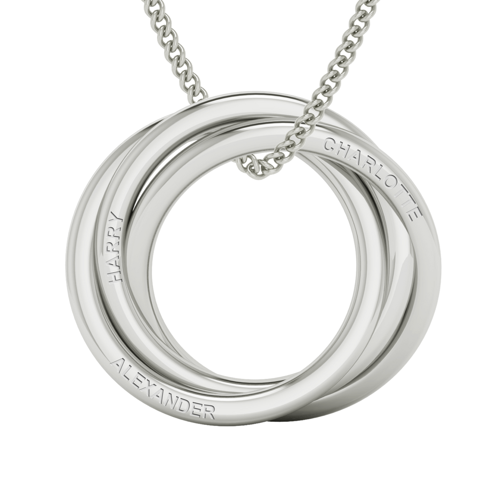 23c52a3f6e2c1 Russian Ring Necklace - the 'Charlotte' - Sterling Silver. As worn by Cate  Blanchett
