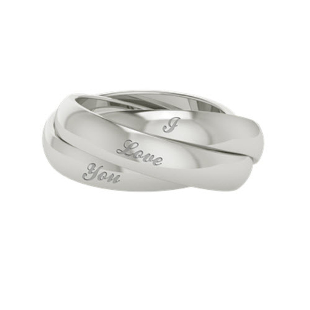 Russian Wedding Ring - Juno - Silver