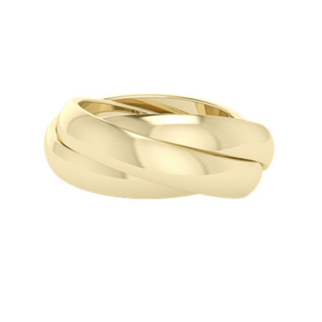 Russian Wedding Ring - Juno - Yellow Gold