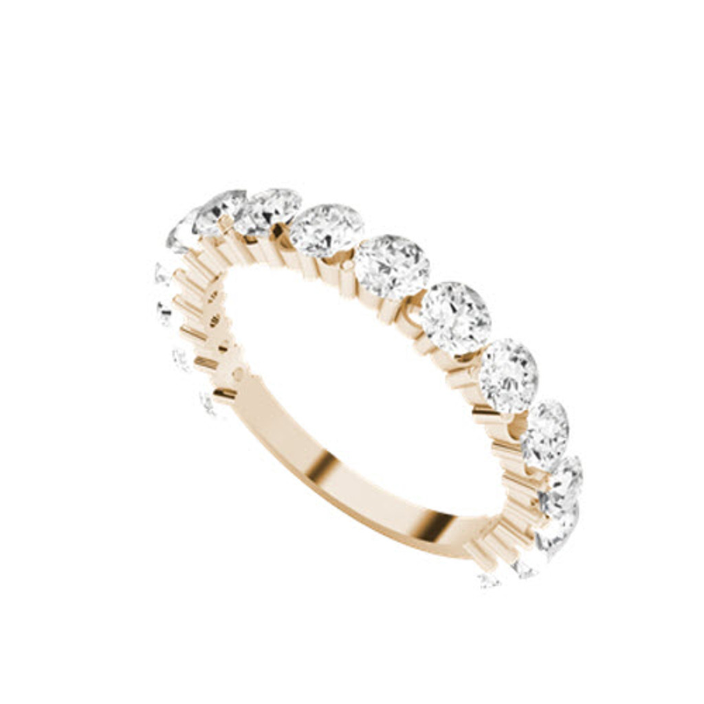 stylerocks-full-round-brilliant-cut-diamond-rose-gold-wedding-ring-on-hand