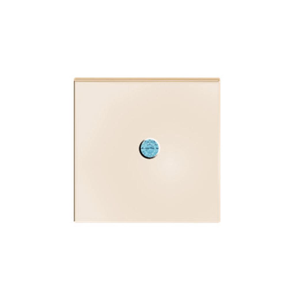 Square Rose Goldplate Cufflinks Aquamarine