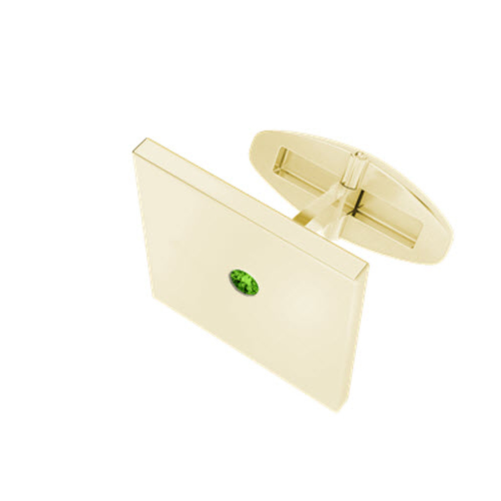 stylerocks-yellow-gold-peridot-square-cufflinks