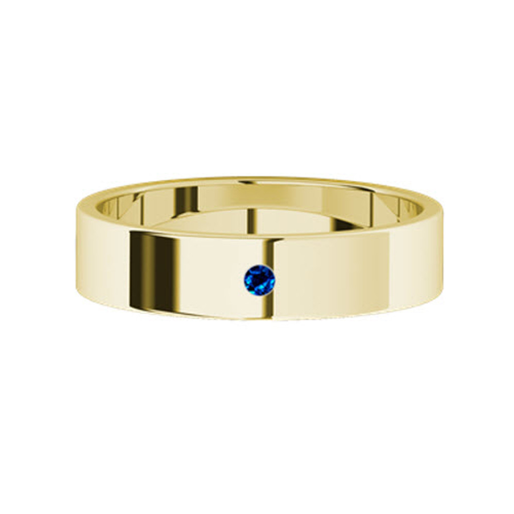 stylerocks-yellow-gold-round-brilliant-cut-blue-sapphire-wedding-ring-top