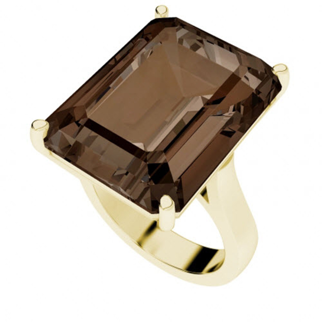 smoky-quartz-yellow-gold-cocktail-ring