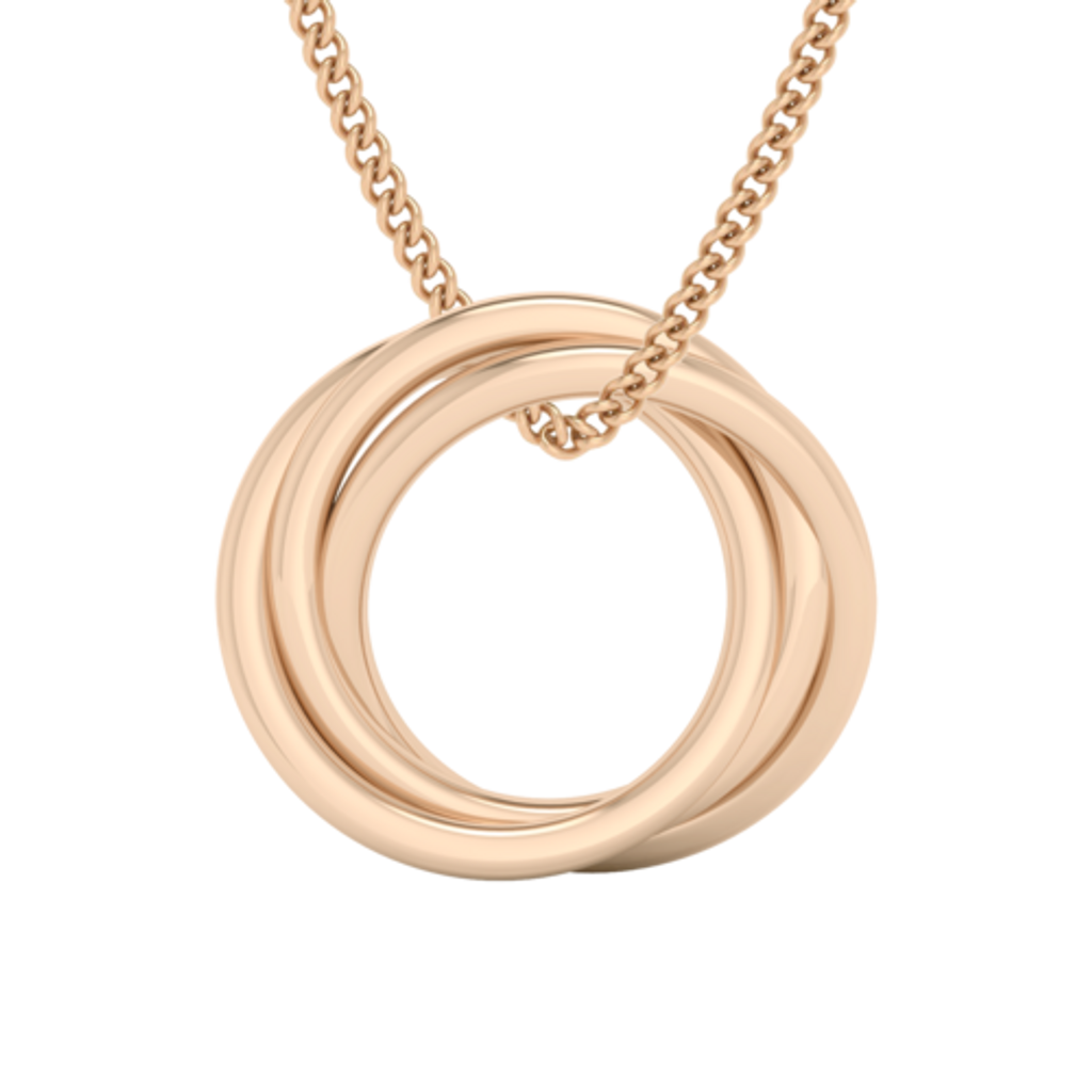 Russian Ring Necklace - the 'Zan' - 9ct Rose Gold