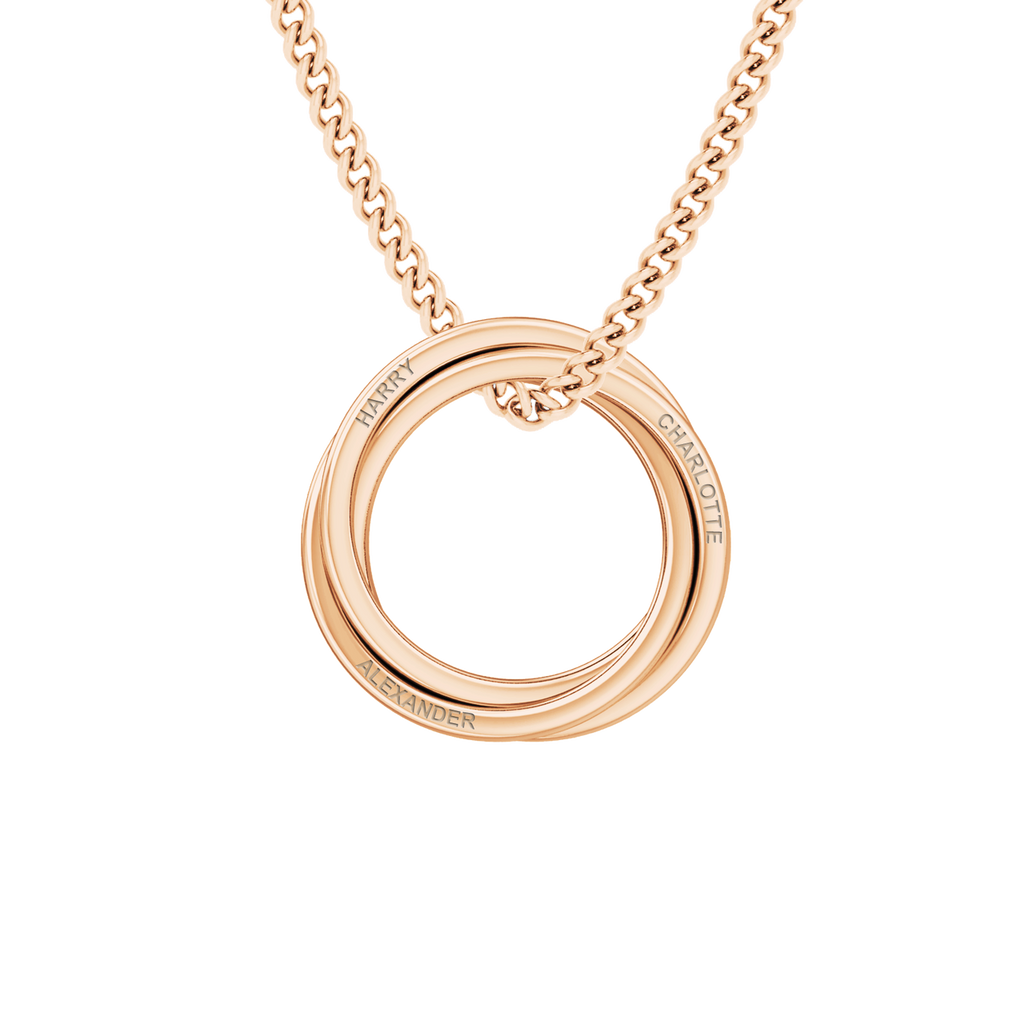 Russian Ring Necklace - the 'Zara' - 9ct Rose Gold