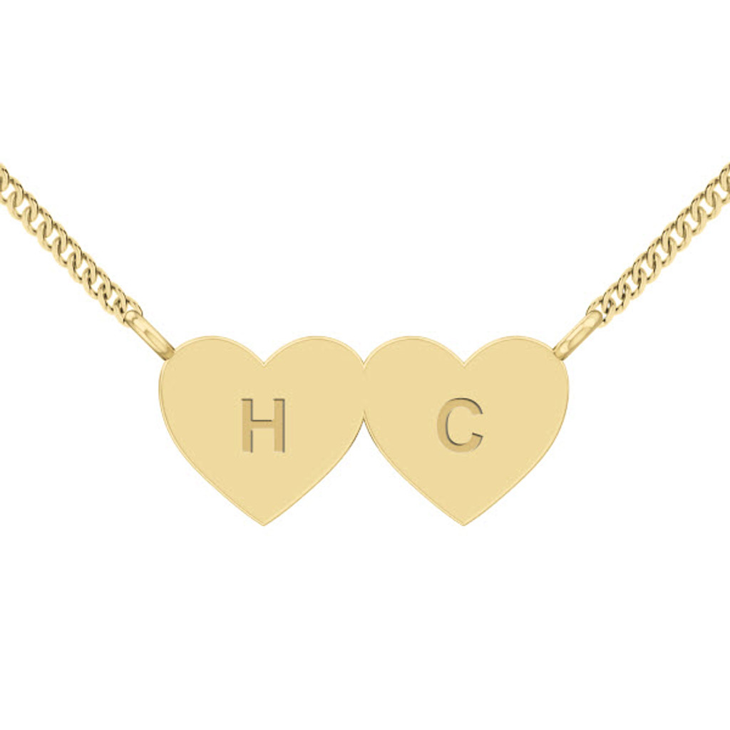 stylerocks-two-joined-hearts-necklace-9ct-yellow-gold-engraved-arial