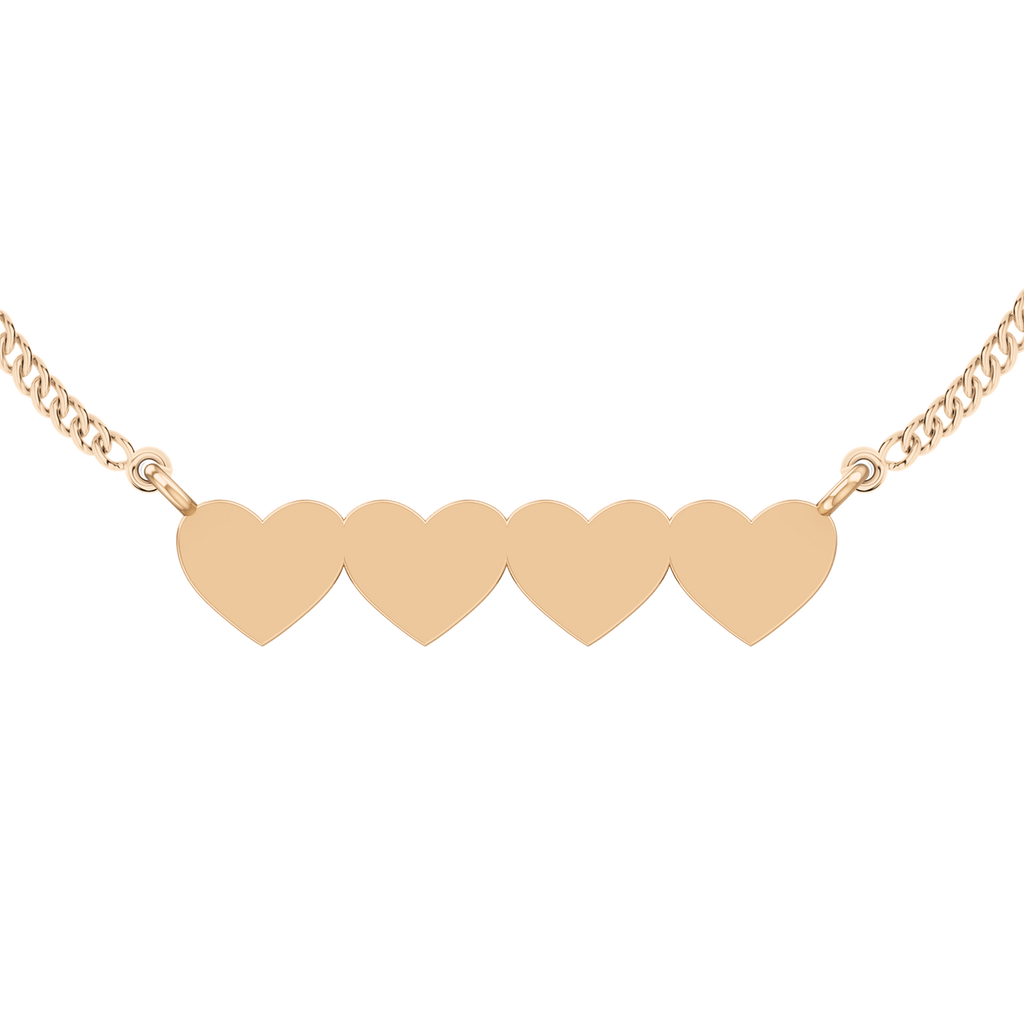 stylerocks-four-joined-hearts-necklace-9ct-rose-gold