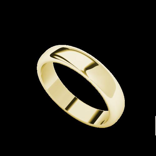 Women's 4mm Wedding Ring 9ct Yellow Gold