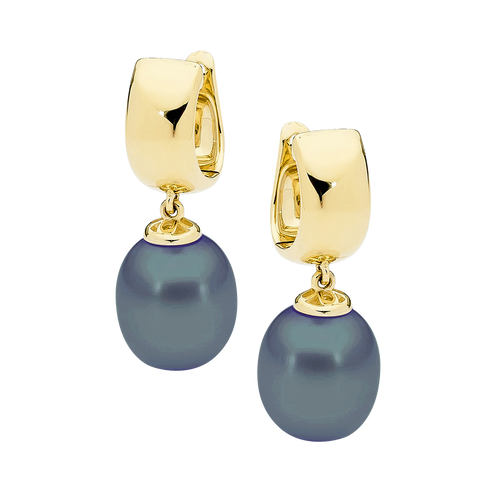 stylerocks-black-pearl-earrings-9ct-yellow-gold