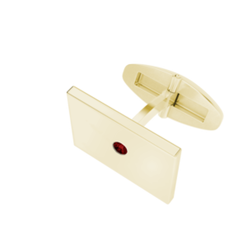 rectangular-goldplate-cufflinks-january-garnet-birthstone