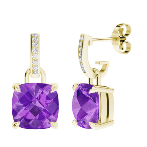 stylerocks-cushion-checkerboard-10mm-amethyst-yellow-gold-and-diamond-drop-earrings