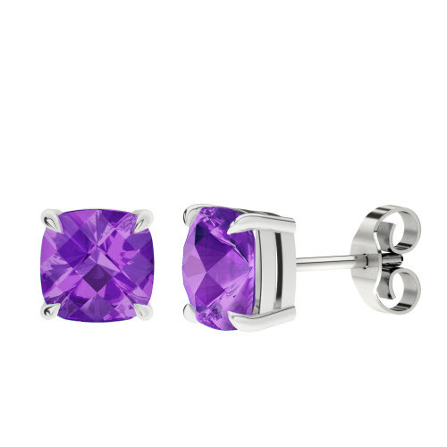 stylerocks-8mm-amethyst-cushion-checkerboard-silver-stud-earrings