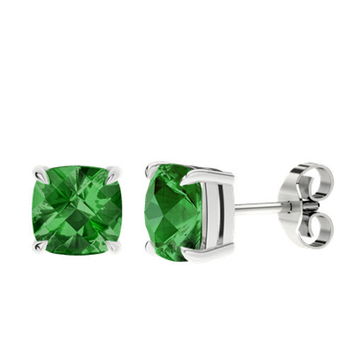 stylerocks-emerald-8mm-cushion-checkerboard-silver-stud-earrings