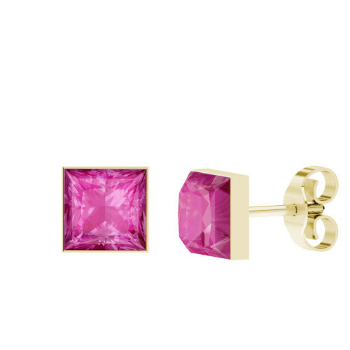 stylerocks-princess-cut-pink-sapphire-gold-stud-earrings