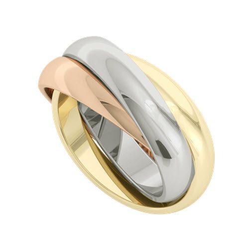 Russian Wedding Ring - Juno - Multi-Gold