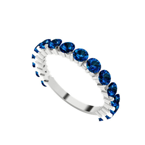 stylerocks-full-round-brilliant-cut-blue-sapphire-white-gold-wedding-ring-on-hand