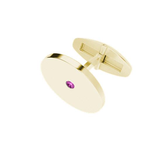 stylerocks-yellow-gold-pink-tourmaline-round-cufflinks