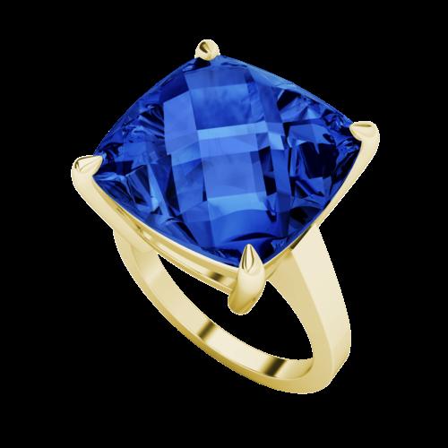 stylerocks-14mm-blue-sapphire-cushion-checkerboard-9ct-yellow-gold-ring