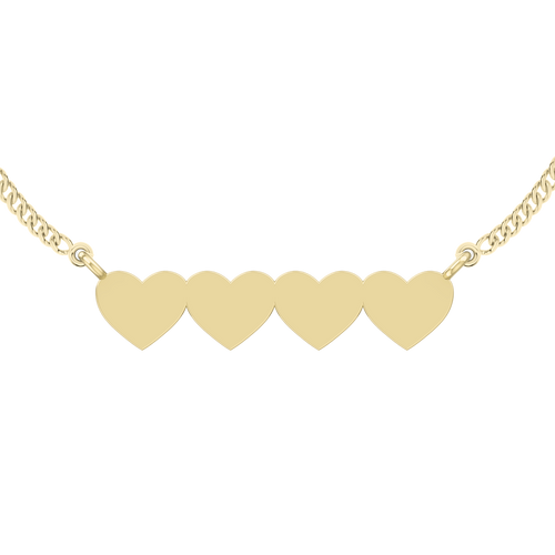 stylerocks-four-joined-hearts-necklace-9ct-yellow-gold