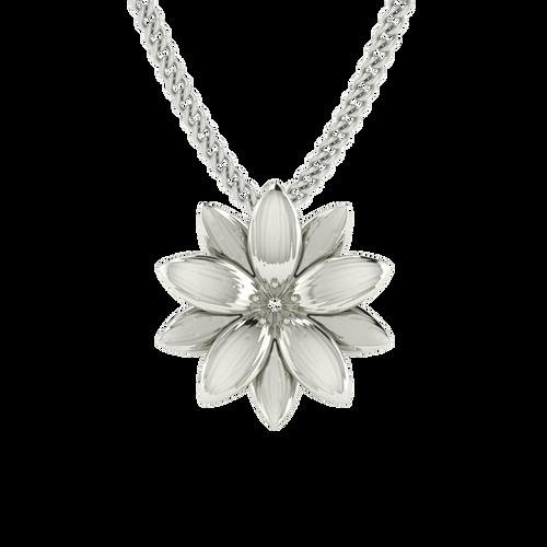 Lotus Flower Necklace Sterling Silver Stylerocks