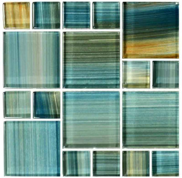Pool Tile Aqua Mixed