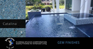 Florida Stucco Pool Plaster Finish Catalina Gem Finish