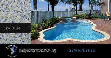 Florida Stucco Pool Plaster Finish Sky Blue Gem Finish