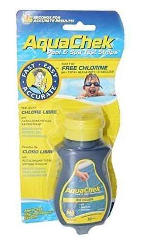 Aquacheck Aqua Chek Yellow Test Strips Free Chlorine, 50 Strips