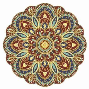 Mosaic Sublime Earth Mandala - Pool Mosaic