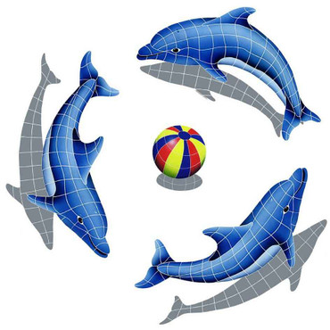 Mosaic Dolphin Group Shadow Multi Color Ball