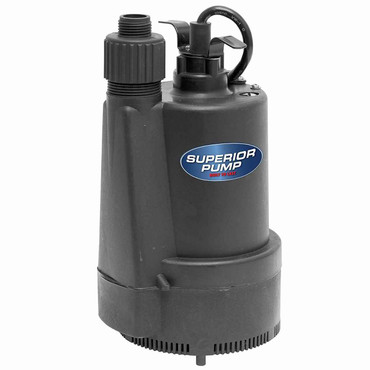 Superior Pump Superior Pump 91330 Utility Pump, 1/3 Horse Power, Black