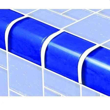 Pool Tile Step Trim - Star Twilight Series Glass Blue Color