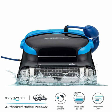 Dolphin Dolphin Nautilus CC Plus Automatic Robotic Pool Cleaner with Easy to Clean Large Top Pools up to 50 Feet