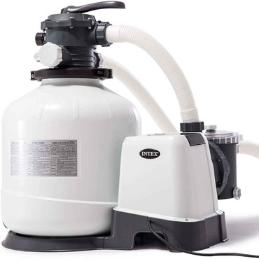 Intex Intex Krystal Clear Sand Filter Pump for Above Ground Pools, 16-inch