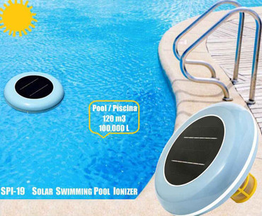 DG Pool Products Original Solar Powered Pool Cleaner, Natural Mineral Copper Ionizer