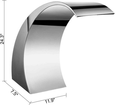 DG Pool Products DG Stainless Steel Pool Fountain for In Ground Pools Outdoor Waterfalls