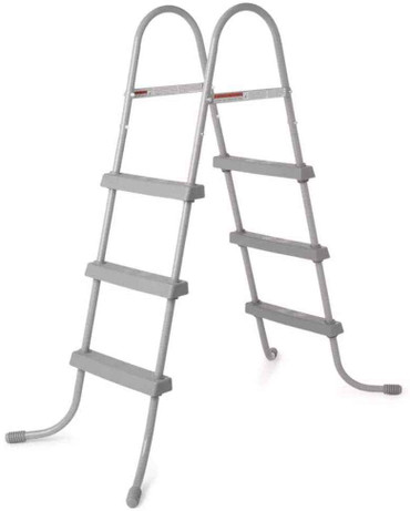 Bestway Bestway 58334E Ladder, 36 or Made for Above Ground Pools or Durable Rust-Proof Metal Frame, One Size