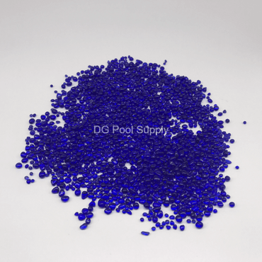 Cobalt Blue Glass Beads For Pool Finish