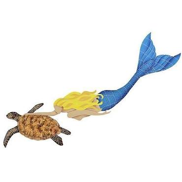 Mosaic Mermaid with Turtle