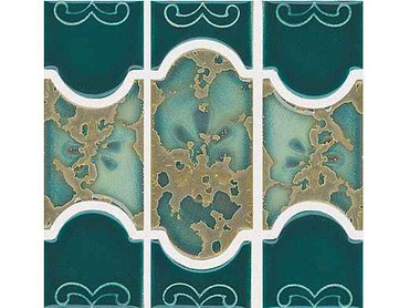 National Pool Tile Botanical Series Pool Tile Teal Green