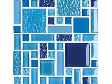 National Pool Tile Fusion Mosaic Glass Tile Royal Blue