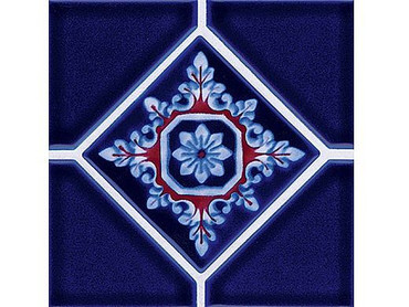 National Pool Tile Discovery Series Cobalt BlueRust