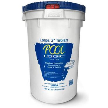 Pool Logic 50 lbs 3 in. Chlorine Tablet