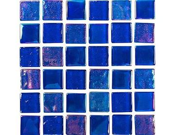 National Pool Tile Equinox 1x1 Glass Tile Dark Blue EQX-MIDNIGHT